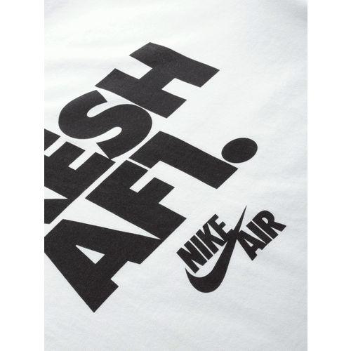 Nike Men White Printed AS M NSW AF1 2 FS Round Neck T-shirt