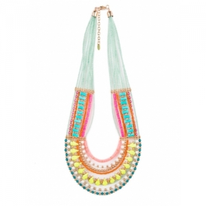 Chumbak Multicoloured Layered Beaded Necklace