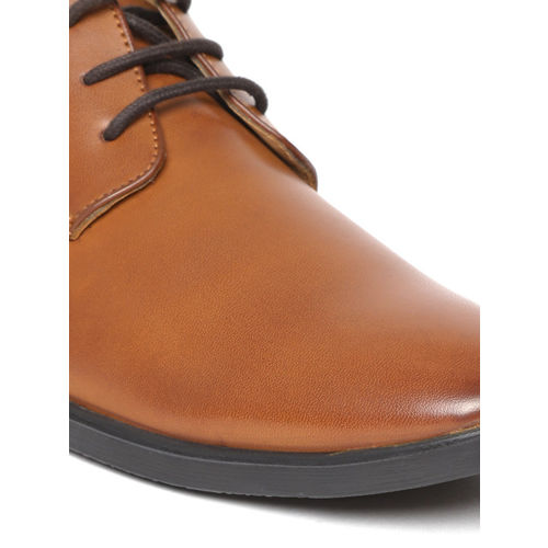Duke Men Tan Brown Solid Formal Derbys