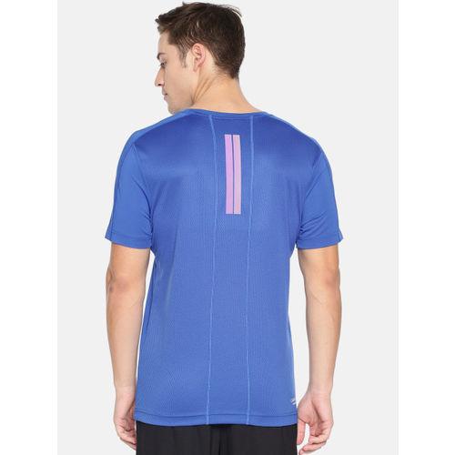 Calvin Klein Men Blue Solid Reflective SS Round Neck T-shirt