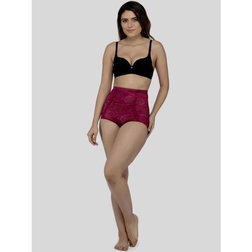 Laceandme Women Magenta Patterned Tummy Tucker 4351