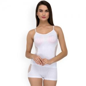 Laceandme Women White Solid Shapewear Set 4240