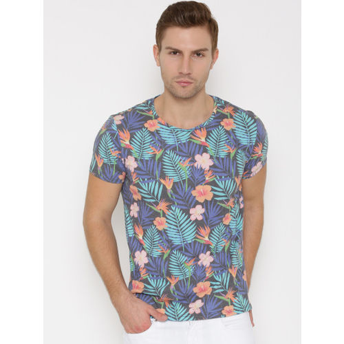 United Colors of Benetton Men Multicoloured Printed Round Neck T-shirt