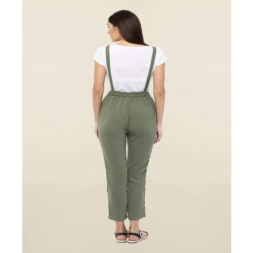 109 F Olive Square Neck Dungaree