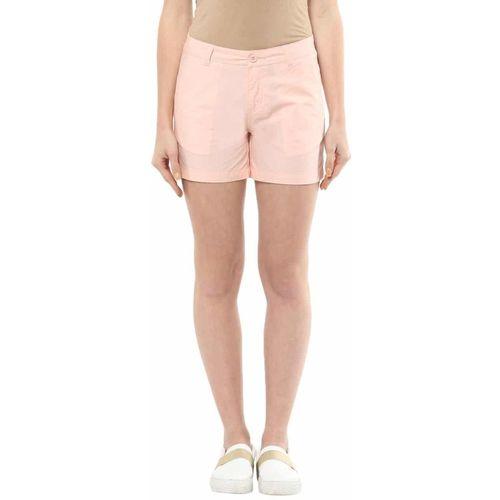 Honey By Pantaloons Solid Women Pink Basic Shorts