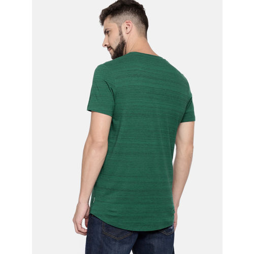 Jack & Jones Men Green Printed Round Neck T-shirt