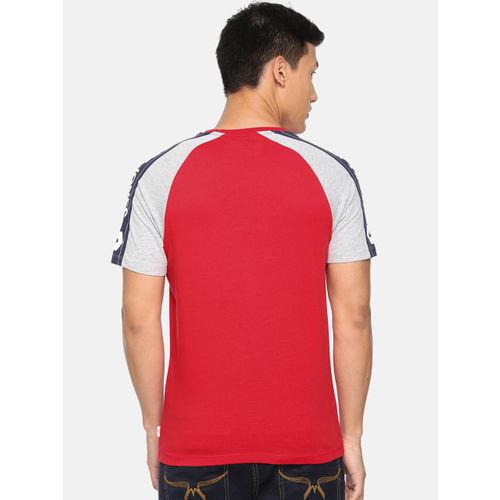 Jack & Jones Men Red Printed Round Neck T-shirt