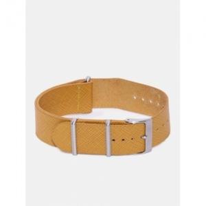 Fossil Unisex Mustard Yellow Leather Watch Strap
