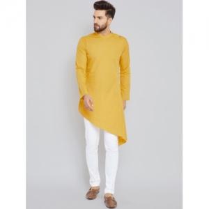 See Designs Mustard Solid Straight Kurta