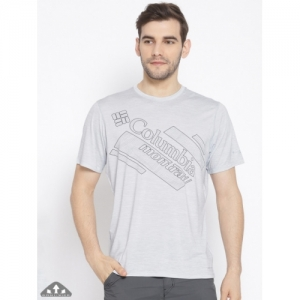 Columbia Grey Polyester Printed Trinity Trail 2.0 Graphic T-shirt