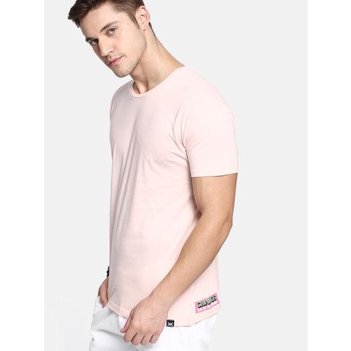 Kook N Keech Men Peach-Coloured Back Printed Round Neck T-shirt