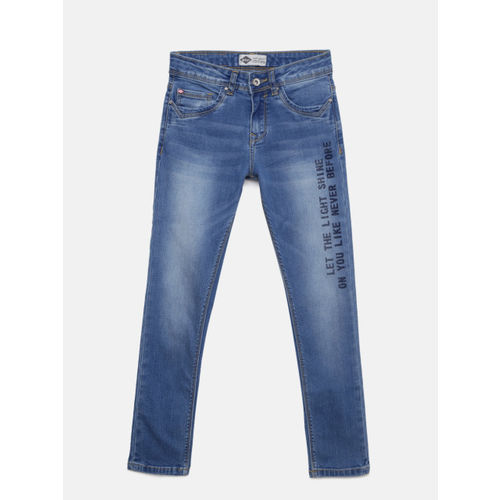 Lee Cooper Girls Blue Regular Annie Fit Mid-Rise Clean Look Stretchable Jeans