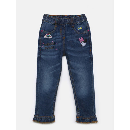 Juniors by Lifestyle Girls Blue Regular Fit Mid-Rise Clean Look Stretchable Jeans