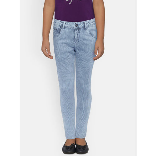 Palm Tree Girls Blue Slim Fit Mid-Rise Clean Look Jeans
