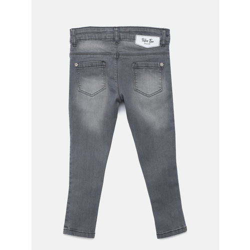Palm Tree Girls Grey Slim Fit Mid-Rise Clean Look Jeans