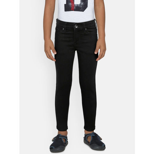 Pepe Jeans Girls Black Skinny Fit High-Rise Clean Look Jeans
