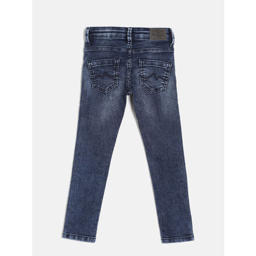 Pepe Jeans Girls Blue Slim Fit Clean Look Jeans