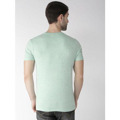 Flying Machine Men Green Printed Round Neck T-shirt