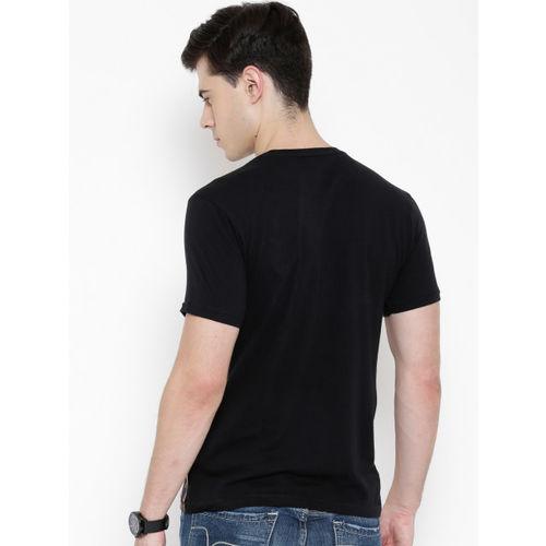 Flying Machine Black Printed T-shirt