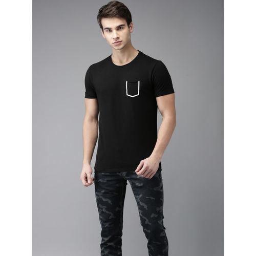 Flying Machine Men Black Printed T-shirt