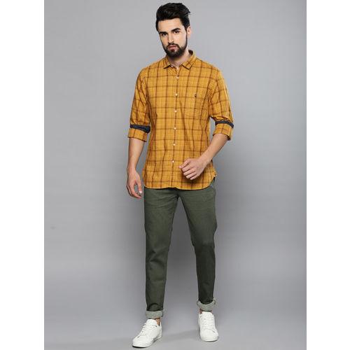 Louis Philippe Mustard Yellow Super Slim Fit Shirt