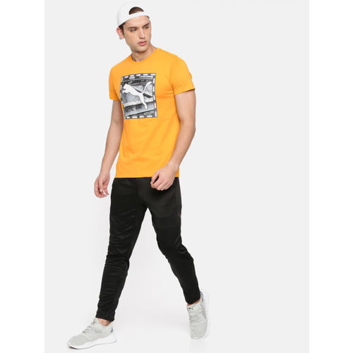 Puma Men Mustard Yellow Printed Graphic Tee VI T-shirt