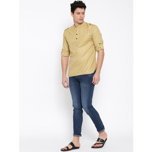 Svanik Mustard Brown Short Kurta