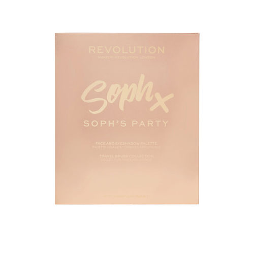 Makeup Revolution London Party Soph X Face & Eyeshadow Palette with 3 Brushes