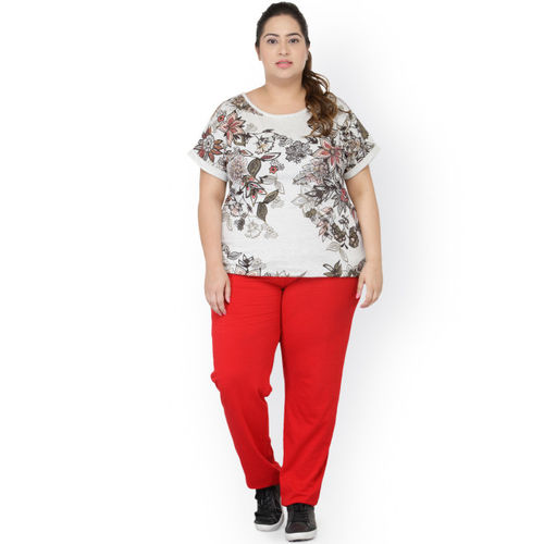 plusS Red Track Pants