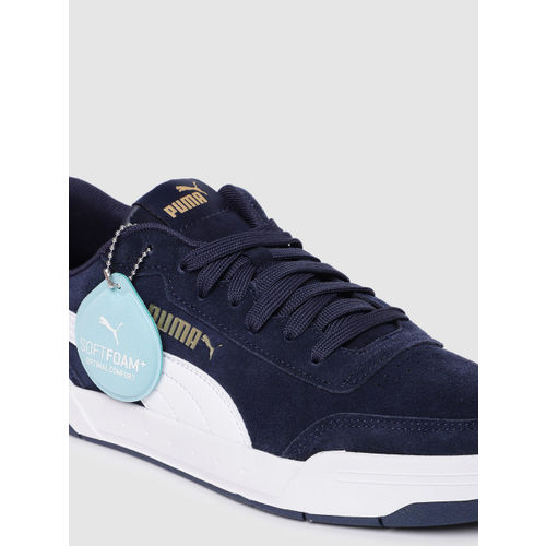 Puma Unisex Navy Blue Caracal SD Suede Sneakers