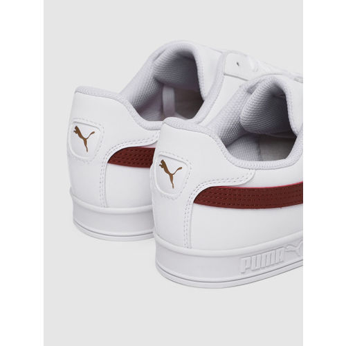 Puma Unisex White Smash Vulc SoftFoam+ Sneakers