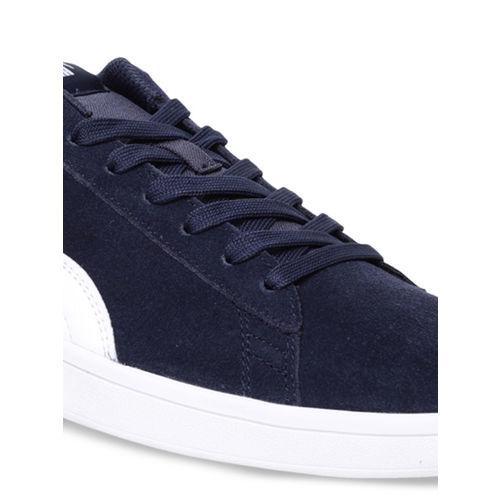 Puma Unisex Navy Blue Smash v2 Peacoat Sneakers