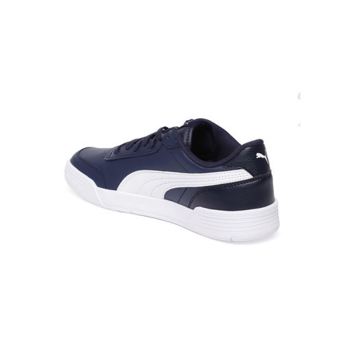 Puma Unisex Navy Blue Caracal Leather Sneakers