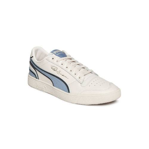 Puma Unisex Off-White & Blue Ralph Sampson Lo Hoops Leather Colourblocked Sneakers