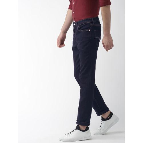 Levis Men Blue 511 Slim Fit Mid-Rise Clean Look Stretchable Jeans