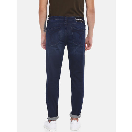 Calvin Klein Jeans Men Blue Body Tapered Fit Mid-Rise Clean Look Stretchable Jeans CKJ 059