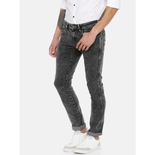 Wrangler Men Black Skinny Fit Low-Rise Clean Look Stretchable Jeans