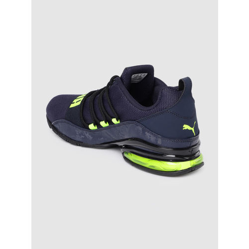 Puma Men Navy Blue Cell Regulate Camo SoftFoam+ Running Shoes