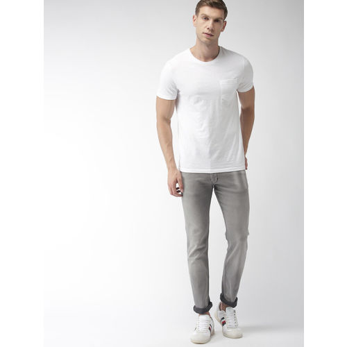 Levis Men Grey 65504 Skinny Straight Fit Redloop Performance Mid-Rise Stretchable Jeans
