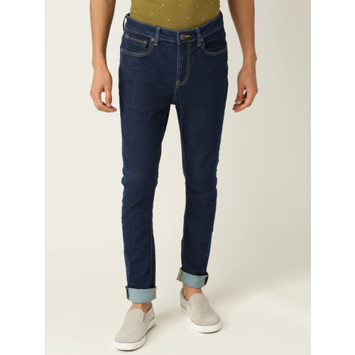United Colors of Benetton Men Navy Blue Mid-Rise Clean Look Stretchable Jeans