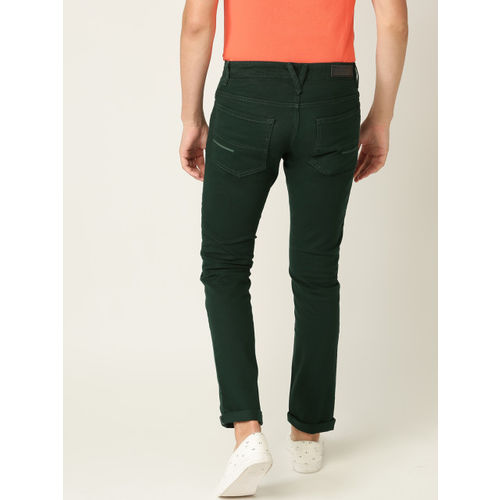 United Colors of Benetton Men Green Skinny Fit Mid-Rise Clean Look Stretchable Jeans