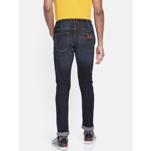 Wrangler Men Blue Rockville Regular Fit Low-Rise Clean Look Stretchable Jeans