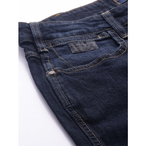 Wrangler Men Blue Rockville Regular Fit Low-Rise Clean Look Stretchable Jeans