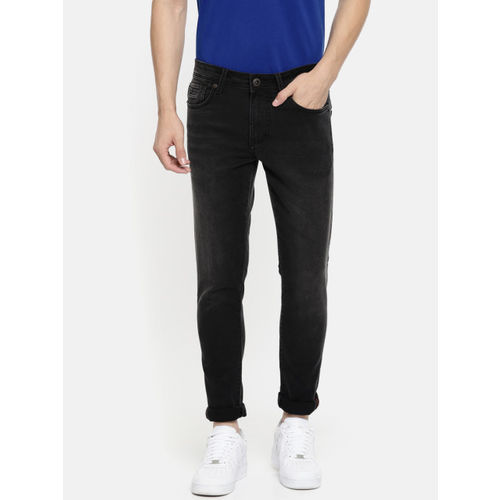 Being Human Clothing Men Black Skinny Fit Mid-Rise Clean Look Stretchable Jeans