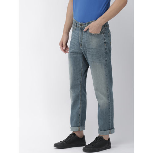 Denizen From Levis Men Blue Regular Fit Mid-Rise Clean Look Stretchable Jeans