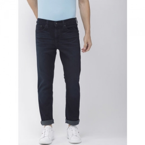 Denizen From Levis Men Navy Blue Tapered Fit Low-Rise Clean Look Stretchable Jeans 208