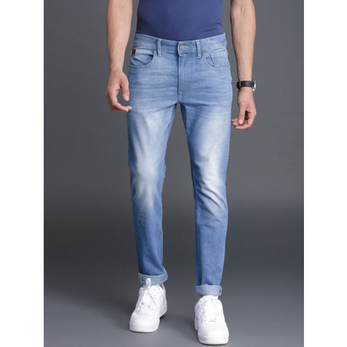 WROGN Men Blue Skinny Fit Mid-Rise Clean Look Stretchable Jeans