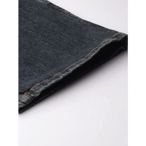 Denizen From Levis Men Blue Straight Fit Mid-Rise Clean Look Stretchable Jeans 218