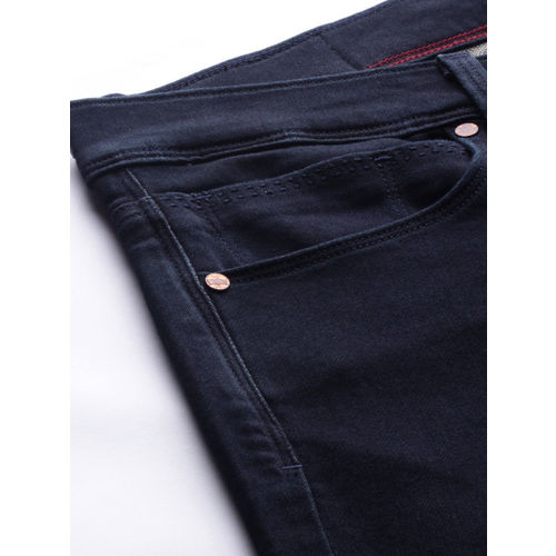 Levis Men Blue Slim Tapered Fit Mid-Rise Clean Look Stretchable Jeans 512