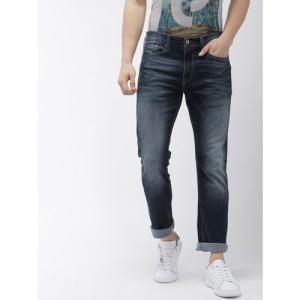 Denizen From Levis Men Blue Slim Straight Fit Low-Rise Clean Look Stretchable Jeans